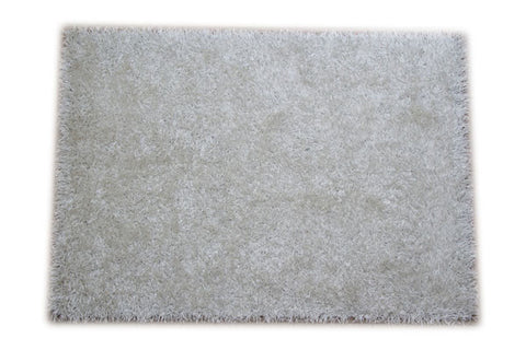 JazzyFloors Bella Solid White Area Rug