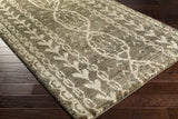 Surya Bjorn BJR-1003 Forest Hand Knotted Area Rug by Jill Rosenwald 5x8 Corner