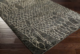 Surya Bjorn BJR-1008 Charcoal Hand Knotted Area Rug by Jill Rosenwald 5x8 Corner