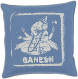 Surya Big Kid Blocks Ganesh BKB-003 Pillow by Mike Farrell 22 X 22 X 5 Poly filled