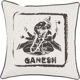 Surya Big Kid Blocks Ganesh BKB-005 Pillow by Mike Farrell 22 X 22 X 5 Poly filled