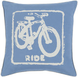 Surya Big Kid Blocks Ride BKB-017 Pillow by Mike Farrell 18 X 18 X 4 Down filled