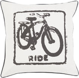 Surya Big Kid Blocks Ride BKB-019 Pillow by Mike Farrell 22 X 22 X 5 Down filled