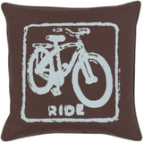 Surya Big Kid Blocks Ride BKB-020 Pillow by Mike Farrell 18 X 18 X 4 Poly filled