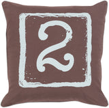 Surya Big Kid Blocks Terrific Two BKB-048 Pillow by Mike Farrell 18 X 18 X 4 Poly filled