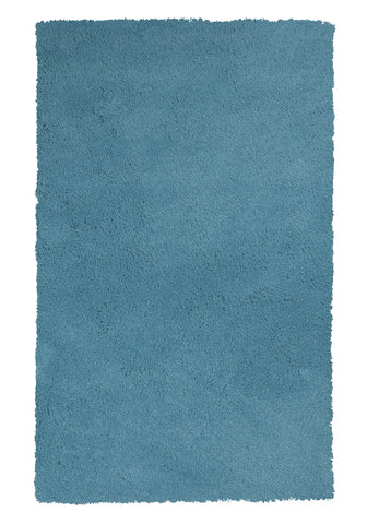 KAS Bliss 1577 Highlighter Blue Shag Area Rug main image