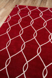 Momeni Bliss BS-12 Red Area Rug Corner Shot