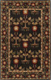 Surya Bungalo BNG-5019 Black Hand Tufted Area Rug 5' X 8'