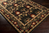 Surya Bungalo BNG-5019 Black Hand Tufted Area Rug 5x8 Corner