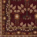 Surya Bungalo BNG-5020 Burgundy Hand Tufted Area Rug Sample Swatch