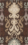 Surya Brentwood BNT-7673 Chocolate Area Rug 2'6'' x 4'