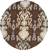 Surya Brentwood BNT-7673 Chocolate Area Rug 6' Round
