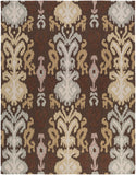 Surya Brentwood BNT-7673 Chocolate Hand Hooked Area Rug 8' X 10'