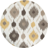 Surya Brentwood BNT-7676 Gold Area Rug 6' Round