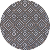 Surya Brentwood BNT-7698 Charcoal Area Rug 6' Round