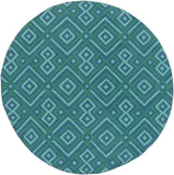 Surya Brentwood BNT-7704 Teal Area Rug 6' Round