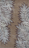 KAS Home 1003 Caramel Folia Hand Tufted Area Rug by Bob Mackie