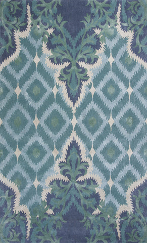 KAS Home 1007 Blue/Green Opulence Hand Tufted Area Rug by Bob Mackie