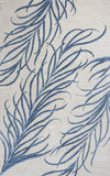 KAS Home 1010 Ivory/Blue Plume Hand Tufted Area Rug by Bob Mackie