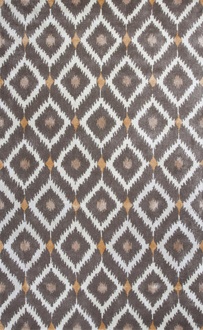 KAS Home 1016 Mocha Mirage Hand Tufted Area Rug by Bob Mackie