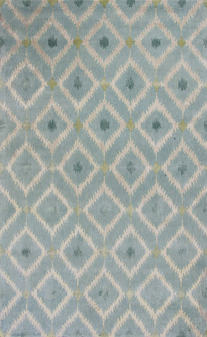 KAS Home 1018 Ice Blue Mirage Hand Tufted Area Rug by Bob Mackie