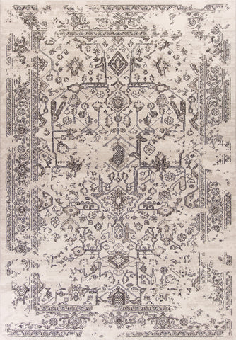 KAS Home Vintage 1308 Grey Marrakesh Machine Woven Area Rug by Bob Mackie