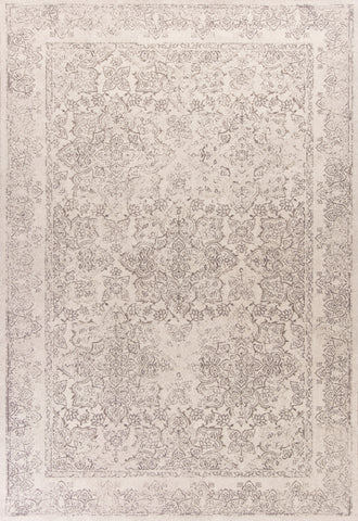 KAS Home Vintage 1312 Ivory Damascus Machine Woven Area Rug by Bob Mackie