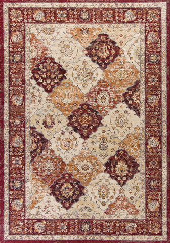 KAS Home Vintage 1313 Garnet Treasures Machine Woven Area Rug by Bob Mackie