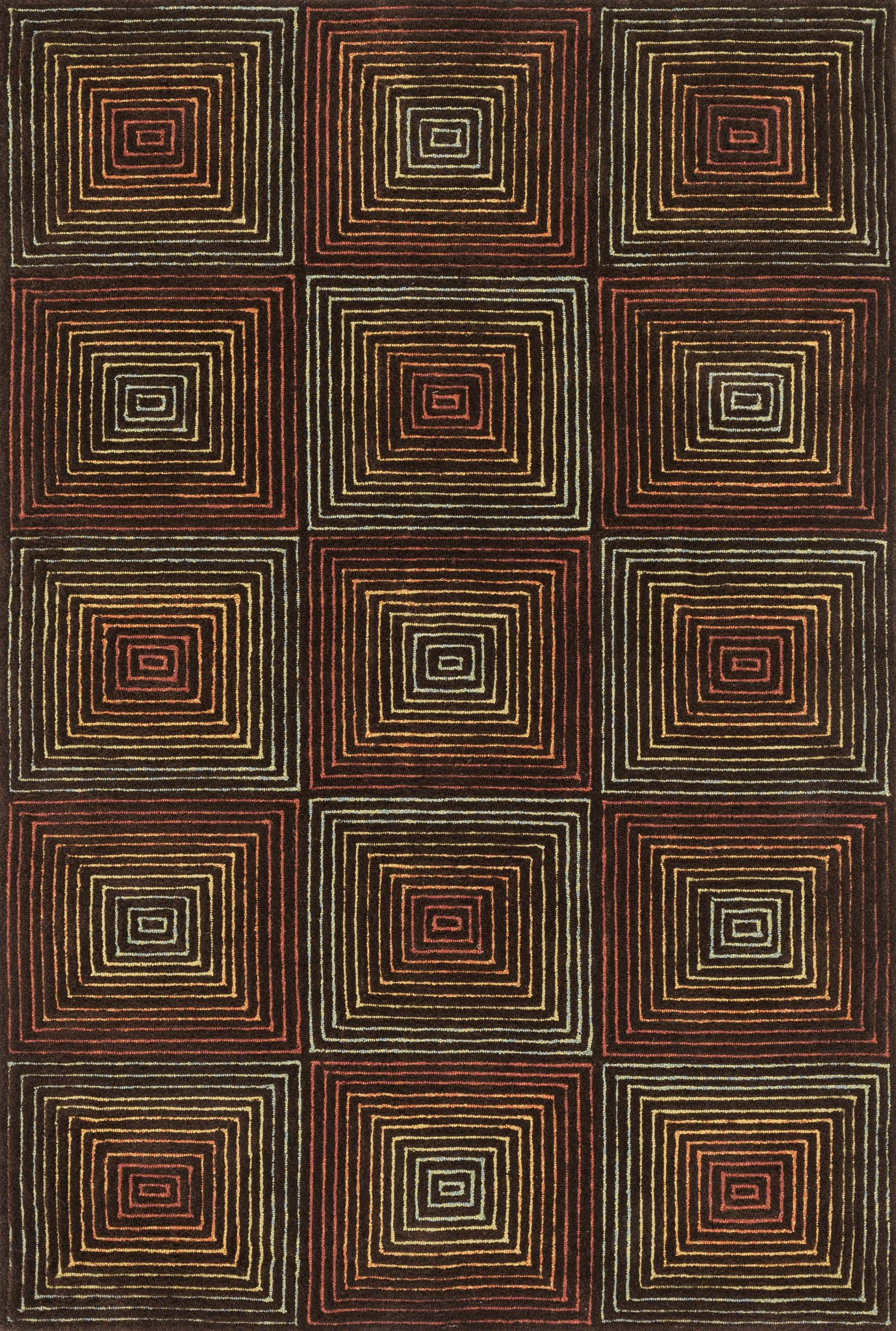 Loloi Boca BH-01 Brown / Multi Area Rug main image