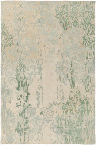 Surya Brocade BRC-1012 Sea Foam Hand Knotted Area Rug