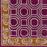 Surya Bordeaux BRD-6004 Magenta Hand Tufted Area Rug by Florence de Dampierre Sample Swatch