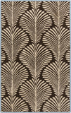 Surya Bordeaux BRD-6007 Chocolate Area Rug by Florence de Dampierre