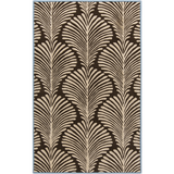 Surya Bordeaux BRD-6007 Chocolate Area Rug by Florence de Dampierre 5' x 8'