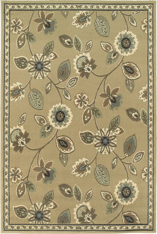 Oriental Weavers Brentwood 501J9 Stone/Blue Area Rug main image