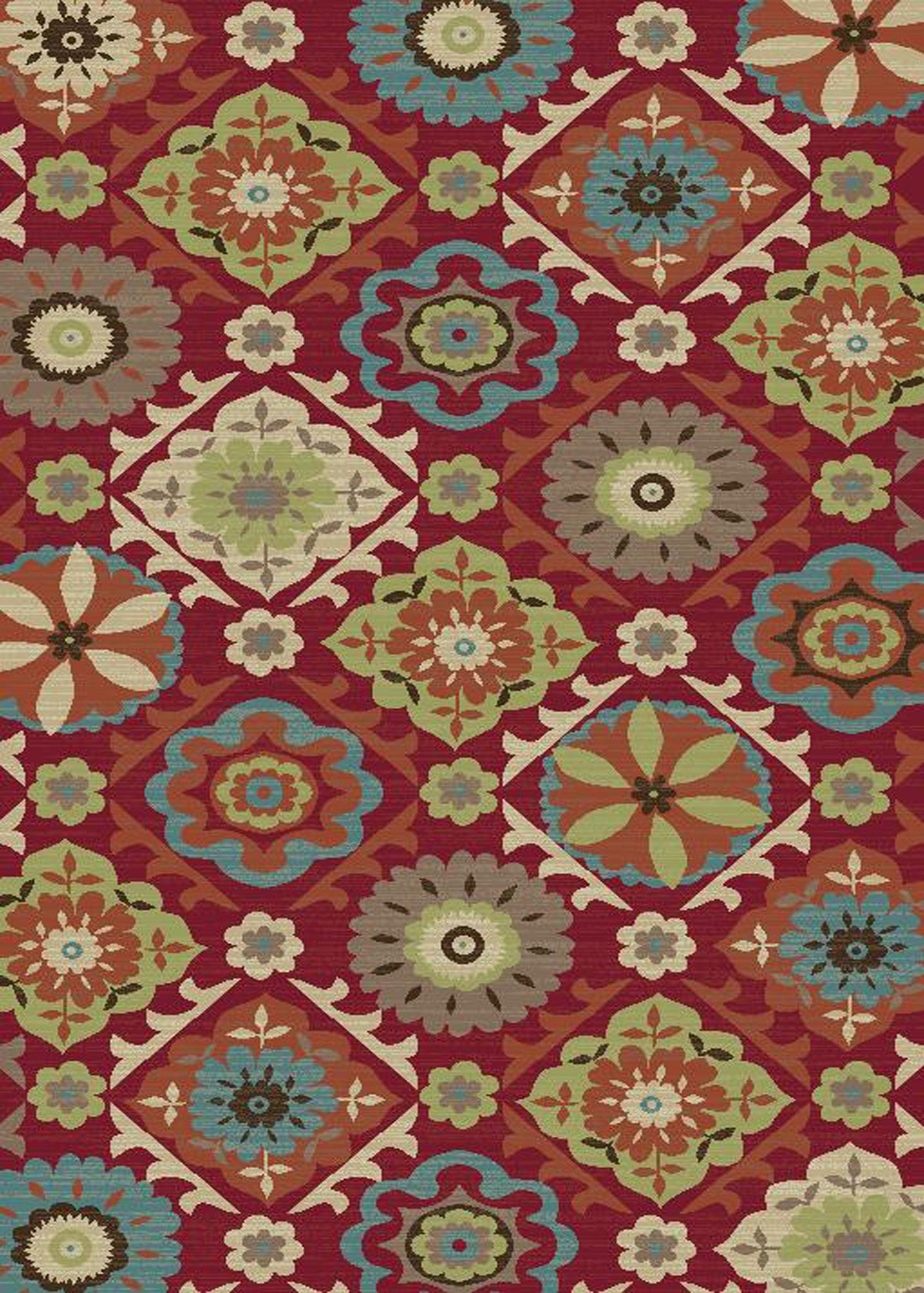 Mayberry Brighton BRG1008 Red Area Rug