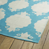 Kaleen Brisa BRI01-78 Turquoise/Ivory Area Rug Close-up Shot