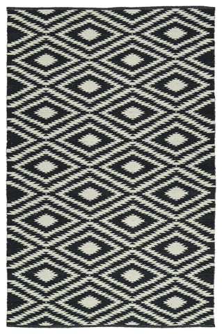 Kaleen Brisa BRI02-02 Black/Cream Area Rug