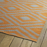 Kaleen Brisa BRI02-89 Orange/Grey Area Rug Close-up Shot