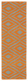 Kaleen Brisa BRI02-89 Orange/Grey Area Rug Runner Shot