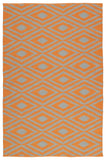 Kaleen Brisa BRI02-89 Orange/Grey Area Rug main image