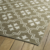Kaleen Brisa BRI04-27 Taupe/Ivory Area Rug Close-up Shot