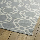 Kaleen Brisa BRI05-75 Grey/Ivory Area Rug Close-up Shot
