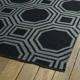 Kaleen Brisa BRI06-02 Black/Grey Area Rug Close-up Shot