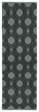 Kaleen Brisa BRI06-02 Grey/Black Area Rug Runner Shot