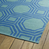 Kaleen Brisa BRI06-17 Blue/Aqua Area Rug Close-up Shot