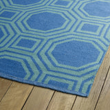 Kaleen Brisa BRI06-17 Aqua/Blue Area Rug Close-up Shot