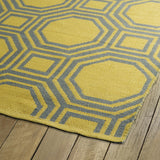 Kaleen Brisa BRI06-28 Grey/Yellow Area Rug Close-up Shot
