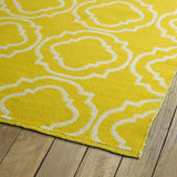 Kaleen Brisa BRI07-28 Yellow/Ivory Area Rug Close-up Shot