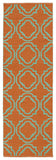 Kaleen Brisa BRI07-89 Orange/Aqua Area Rug Runner Shot