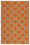 Kaleen Brisa BRI07-89 Orange/Aqua Area Rug main image